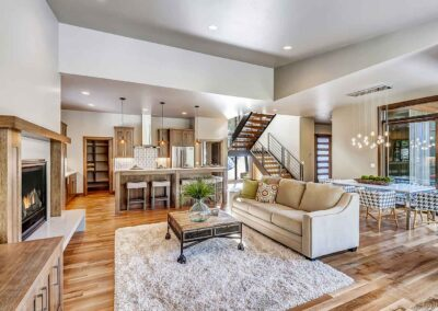 Cloninger Custom Homes living space view of home in Bend OR